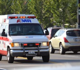 First responder driving ambulance in Washington